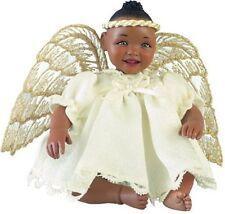 Angel Sunshine Afro African Brown Black Dark New Porcelain Baby Girl Doll