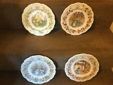 Decorative Wall Plates Brambly Hedge Set Of 4 Summer, Autumn, Winter and Spring