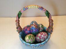 "Jim Shore Easter Basket Heartwood Creek ""Hunting Eggs Finding Joy� #4007945"