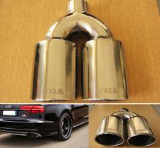 Embout D'Echappement Double Sortie Acier Inoxydable Tuyau de 49mm Audi S8 Style