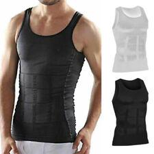 Mens Slimming Body Shaper Compression Vest T-Shirt Abs Abdomen Undershirt