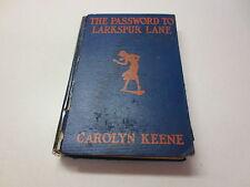 The Password to Larkspur Lane by Carolyn Keene Nancy Drew vintage 1933 hardback