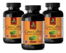 Coffee Green Extract - Green Coffee Extract GCA 800mg - Weight Loss - 3 B