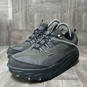 MBT Swiss Mens Rocker Gore-Tex Shoes Black Walking Shape Tone  Up Toning Sz 8.5