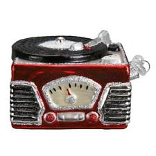 RED RECORD PLAYER OLD WORLD CHRISTMAS GLASS AUDIO EQUIPMENT ORNAMENT NWT 38043