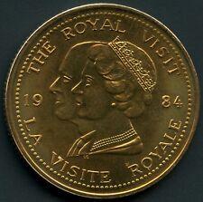 1984 The Royal Visit Ontario Coin Token 33 mm Diameter