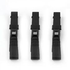 Chevy FS Blazer 1973 - 1991 Standard 2pt Black Lap Bench Seat Belt Kit - 3 Belts