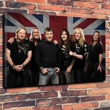 "Iron Maiden Band Printed Box Canvas A1.30""x20"" 30mm Deep Heavy Metal Picture V2"