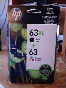 Genuine HP 63XL Black & Tri-Color Cartridge F6U64AN Brand New & Sealed  EXP 2017
