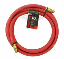 """Tekton 3/8"""" x 10' ft Rubber Air Hose Whip Lead 250 PSI Brass Ends USA Made 46334"""