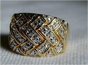 Ross Simons Gold Over Sterling Diamonds Ring-Size 8