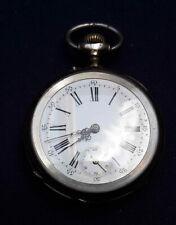 Silberne Taschenuhr um 1900 3 Deckel 800er Silber (Si371)
