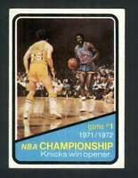 1972-73 Topps #154 NBA Playoffs Game 1 EXMT/EXMT+ 127986