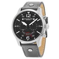 Stuhrling Original 473 03 Aviator Quartz Chronograph Leather Strap Mens Watch