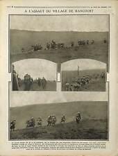 Poilus Bataille de la Somme Ruines Village de Rancourt Péronne France 1916 WWI