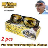 2x As Seen TV HD Vision Driving Glasses Wrap Around Glasses Unisex Anti Glare UA