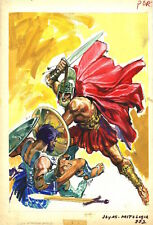 Gladiator COVER PAINTING Joyas Mitologia 332 COMIC ART Sword Fight `70s E. Lopez