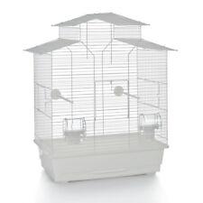 Vogelkäfig Vogelhaus Wellensittich Kanarien Sittich 'Pagode' 45x28x60 cm weiß