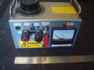 Variac Regulac Variable 230V AC Transformer AC & DC outputs   valve equipment