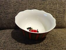 Scottish Terrier, Scotty Dog 222 Fifth Plaid Christmas Cereal, Soup Bowl Nwot