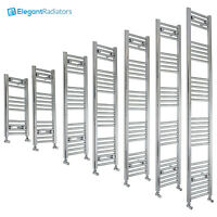 300 mm Wide Chrome Ladder Heated Towel Rail Radiator Designer Bathroom Straight