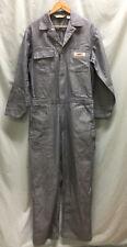 Big Mac Auth Workwear Coveralls Sz 40x31 Blue Twill Striped Cotton, 2-Way Zipper