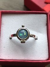 Gem Size O New In Gift Box Silver Metal Locket Ring With Opel Style