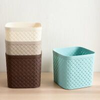 Woven Desktop Storage Basket Box Container Organizer Trash Can Bin Wastebasket