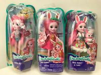 "Enchantimals 6"" dolls bree bunny - petya pig               lot of 3"