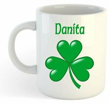 Danita - Shamrock Personalised Name Mug - Irish St Patricks Gift