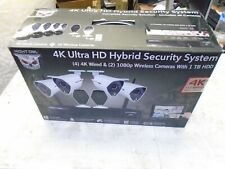 Night Owl 4K Ultra HD Hybrid Security System 6CH 1TB 6 Cameras (Wired &Wireless)