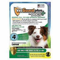 4 Month Flea and Tick Control Drops for Medium Dogs 16-33 lbs VetGuaRd  BEST Val