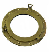 "15"" Porthole Window Aluminum Brass Antique Finish Ship Cabin Nautical Porthole"