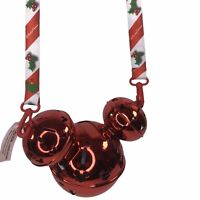Disney Parks RARE RED 2019 Christmas Holiday Mickey Jingle Bell Light Up Sipper