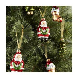 CHRISTMAS TREE DECORATIONS (x 6) - CUTE CHRISTMAS FIGURES