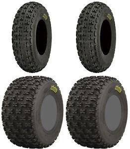 Four 4 ITP Holeshot XCT ATV Tires Set 2 Front 23x7-10 & 2 Rear 22x11-10
