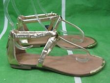 NEW LADIES Summer Gold Womens Shoes Ankle Straps Sexy Sandals Size 5.5
