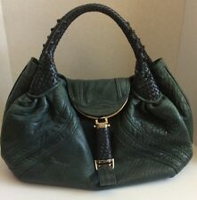 Fendi Spy Bag Green Leather