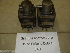 78 79 Polaris Cobra 340 cylinders pistons cylinder piston set r l rings jug