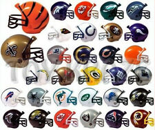 NFL COLLECTIBLE MINI FOOTBALL HELMET SET! COMPLETE 32 TEAMS GUMBALL HEADS NEW