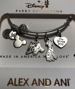 Disney Parks Alex & And Ani Disney Dogs Silver Bracelet