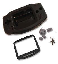 Gameboy Game Boy Advance Gba Negro Shell Estuche de CARCASA W Pantalla y Herramientas UK