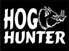 Hog Hunter Decal wild boar pig swine vinyl stickers hunting car window graphic