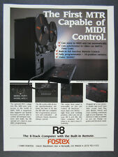 1989 Fostex R8 8-Track Reel Tape Recorder vintage print Ad