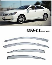 For 07-12 Lexus ES350 WellVisors Side Window Defectors Visors W/ Chrome Trim
