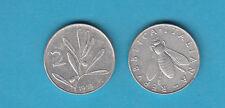 ITALIA LIRE 2 VECCHIO TIPO APE ANNO 1953 moneta  circolata con VENDITA MULTIPLA