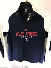 Men's XL  Adidas Performance Climalite Ole Miss Rebels 1/4 Zip L/S Pullover. NWT