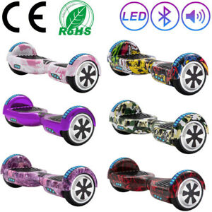 """Electric Scooters 6.5"""" Bluetooth Hoverboard 2 Wheels Self-Balancing Scooter+Bag"""