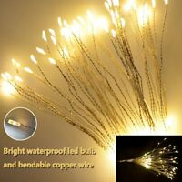 Firework LED Copper Fairy Wire String Lights Remote Control Christmas Decor NEW^