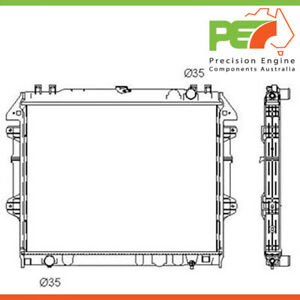 Brand New * PROTEX * Radiator For Toyota Hilux TGN Series Part# RADT129